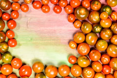 Tomatoes and vegetables in season. Stock Image