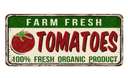 Tomatoes vintage rusty metal sign Royalty Free Stock Image