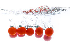 Tomatoes in water royalty free stock photo