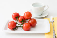 Tomatoes and Water Royalty Free Stock Photos