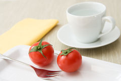 Tomatoes and Water Stock Photography