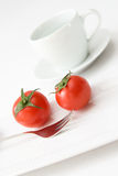 Tomatoes and Water Royalty Free Stock Images