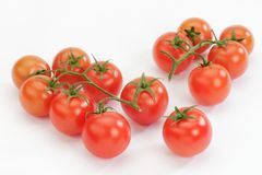 Tomatoes on white Royalty Free Stock Photography