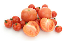 Tomatoes on white background Royalty Free Stock Image