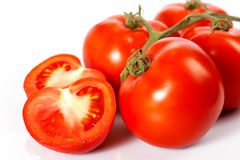 Tomatoes on white background. Tomatoes  on white background Royalty Free Stock Photography