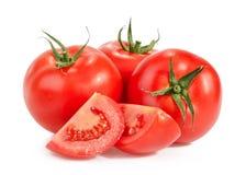Tomatoes  on white Royalty Free Stock Photos