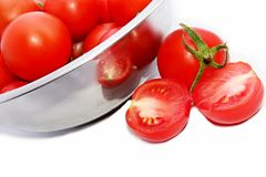 Tomatoes with white background Royalty Free Stock Image