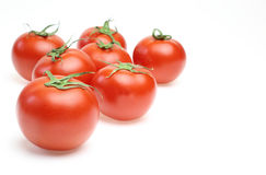 Tomatoes in a white background Royalty Free Stock Photo