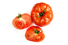 Tomatoes on white background Royalty Free Stock Photo