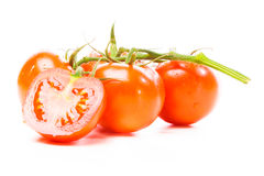 Tomatoes On White Stock Photography