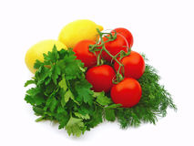 Tomatoes With Lemons Royalty Free Stock Photos