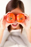 Tomatoes Woman Royalty Free Stock Photo
