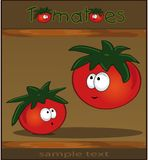 Tomatoes wood brown Royalty Free Stock Image