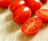 Tomatoes on wooden Royalty Free Stock Photography