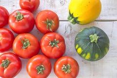 Tomatoes and zucchini Stock Image