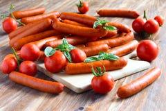 Tomatoess en worst Stock Foto's