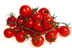 Tomatos. Biological tomatoes isolated on white background Stock Photos