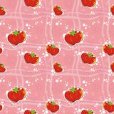 Tomatos. Seamless pattern with tomato in vector Royalty Free Stock Photography