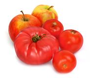 Tomatos and apples Stock Photography
