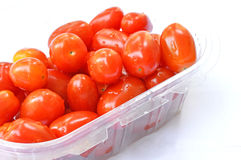 tomatos in box. Tomatos in plastic box Stock Photography