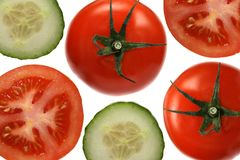 Tomatos and cucumbers Royalty Free Stock Photography