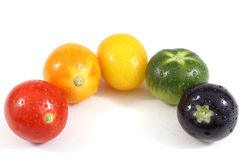 Tomatos of different colors Stock Photo