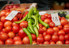 Tomatos and Hot Pepper Royalty Free Stock Image