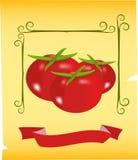 Tomatos illustration stock images