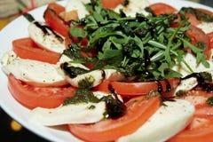 Tomatos with mozarella cheese Royalty Free Stock Photo