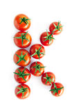 Tomatos on white bacground Stock Photography