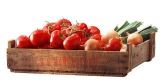 Tomatous krat royalty-vrije stock foto