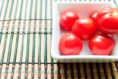 Tomatplatta Arkivfoto