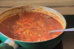 Tomatsås med gulasch #2 Arkivbilder