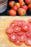 Tomatskiva arkivbild