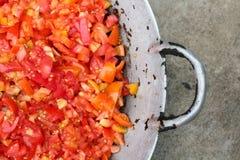 Tomatskiva royaltyfria bilder