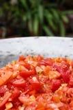 Tomatskiva arkivbilder