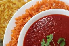tomatsoppakräm arkivbild