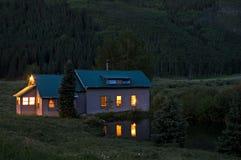 Tombée de la nuit du Colorado Image stock