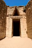 The tomb. The treasury of Atreus in Mycenae, Greece Stock Photography
