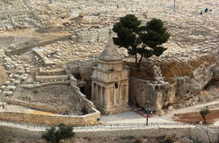 Tomb of Absalom (Absalom's Pillar) in Kidron Valley, Jerusalem, Israel Stock Image