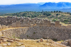 Tomb of Aegisthus. Lover of Queen Clytemnestra, wife of Agamemnon - in Mycenae, Greece royalty free stock images