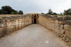 Tomb of Agamemnon in Mycenae Stock Images