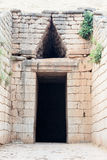 Tomb of Agamemnon in Mycenae Royalty Free Stock Photography