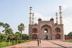 Tomb of Akbar the Great in Agra, Uttar Pradesh, India Royalty Free Stock Photos