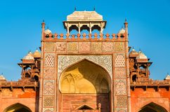 Tomb of Akbar the Great at Sikandra Fort in Agra, India. Tomb of Akbar the Great at Sikandra Fort in Agra - Uttar Pradesh, India Stock Photo