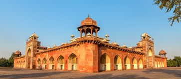 Tomb of Akbar the Great at Sikandra Fort in Agra, India. Tomb of Akbar the Great at Sikandra Fort in Agra - Uttar Pradesh, India Stock Image