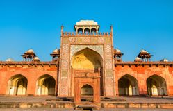 Tomb of Akbar the Great at Sikandra Fort in Agra, India. Tomb of Akbar the Great at Sikandra Fort in Agra - Uttar Pradesh, India Stock Images