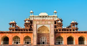 Tomb of Akbar the Great at Sikandra Fort in Agra, India. Tomb of Akbar the Great at Sikandra Fort in Agra - Uttar Pradesh, India Royalty Free Stock Photos