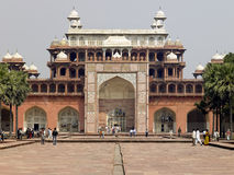 Tomb of Akbar at Sikandra near Agra - India. The Tomb of Akbar in Sikandra near Agra in Uttra Pradesh region of India Royalty Free Stock Photography