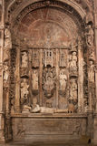 Tomb of Alfonso Henriques. In the Santa Cruz Monastery in Coimbra sculptured by Nicolau Chanterene Stock Photos
